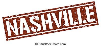 Nashville brown square stamp