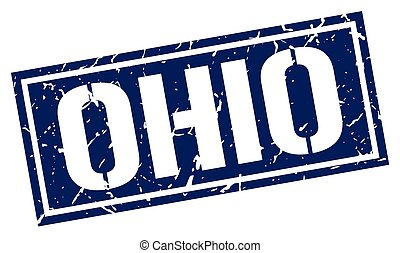 Ohio blue square stamp