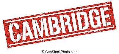 Cambridge red square stamp