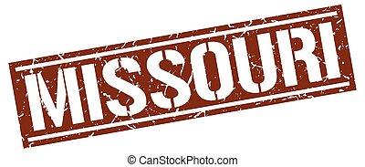 Missouri brown square stamp