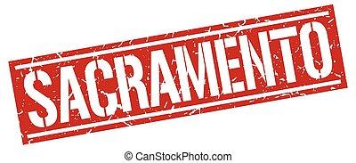 Sacramento red square stamp