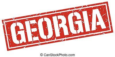 Georgia red square stamp
