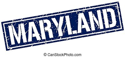 Maryland blue square stamp