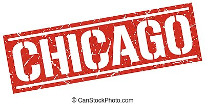 Chicago red square stamp