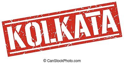 Kolkata red square stamp