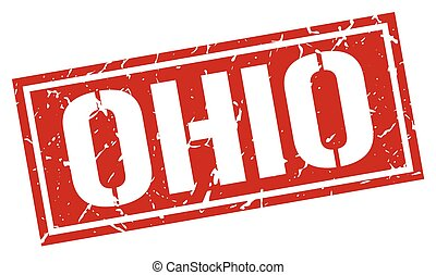 Ohio red square stamp