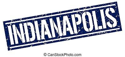 Indianapolis blue square stamp