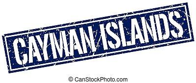 Cayman Islands blue square stamp