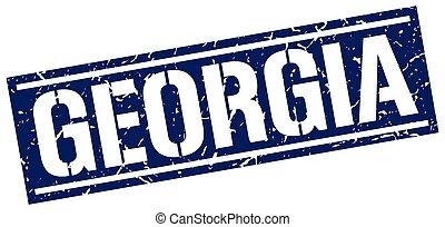 Georgia blue square stamp