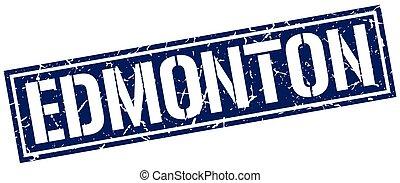 Edmonton blue square stamp