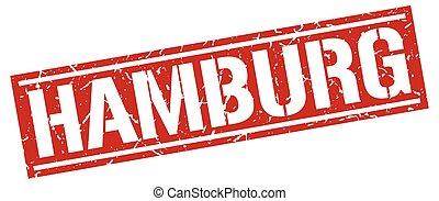 Hamburg red square stamp