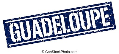 Guadeloupe blue square stamp