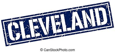 Cleveland blue square stamp