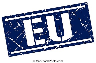 eu blue square stamp