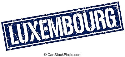 Luxembourg blue square stamp
