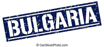 Bulgaria blue square stamp