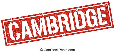 Cambridge red square stamp