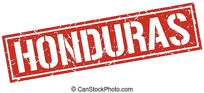 Honduras red square stamp