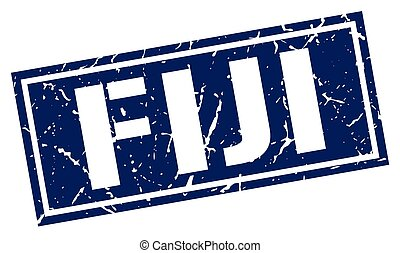 Fiji blue square stamp