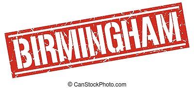 Birmingham red square stamp