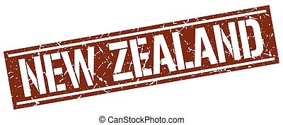 New Zealand brown square stamp