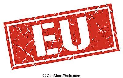 eu red square stamp