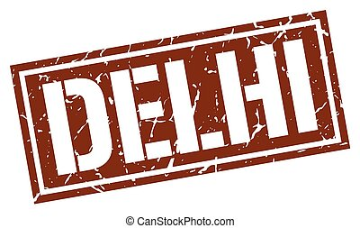 Delhi brown square stamp