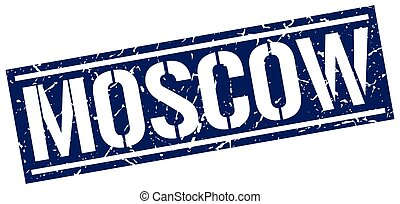 Moscow blue square stamp