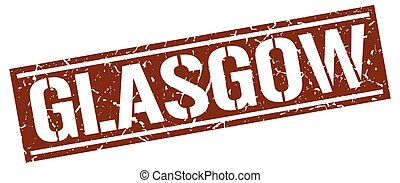 Glasgow brown square stamp
