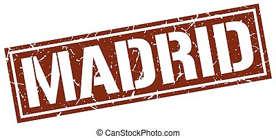 Madrid brown square stamp