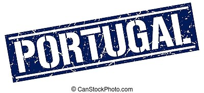 Portugal blue square stamp