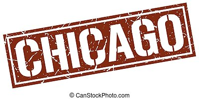 Chicago brown square stamp
