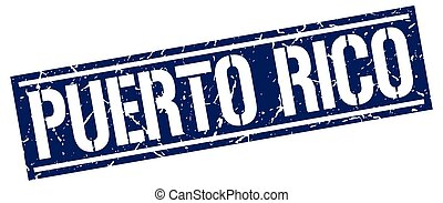 Puerto Rico blue square stamp