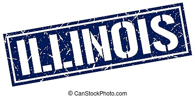 Illinois blue square stamp