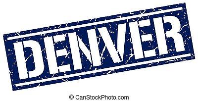 Denver blue square stamp