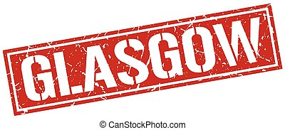 Glasgow red square stamp