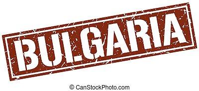 Bulgaria brown square stamp