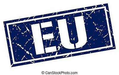 eu blue square stamp