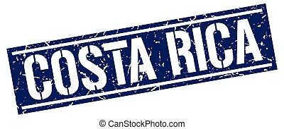 Costa Rica blue square stamp