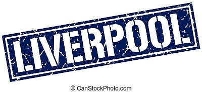 Liverpool blue square stamp