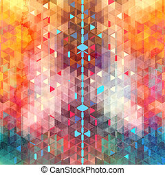 Abstract watercolor background of triangles - Watercolor...