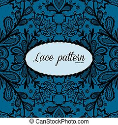 Lace vector design. - Lace background with a place for text....