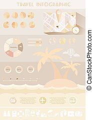 Colorful Travel Infographics Illustration - Travel Summer...