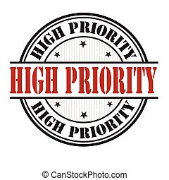 High priority stamp or sign