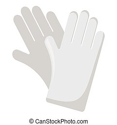 Rubber gloves monochrome icon. Illustration for web and...