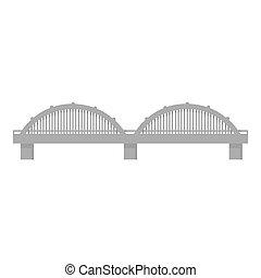 Bridge icon monochrome. Single building icon from the big...