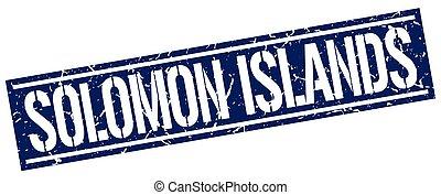 Solomon Islands blue square stamp