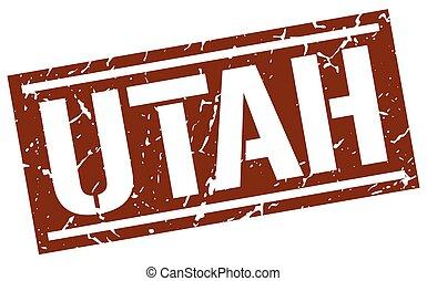 Utah brown square stamp