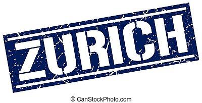 Zurich blue square stamp