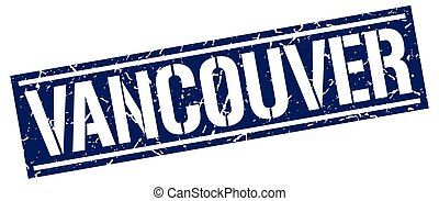 Vancouver blue square stamp